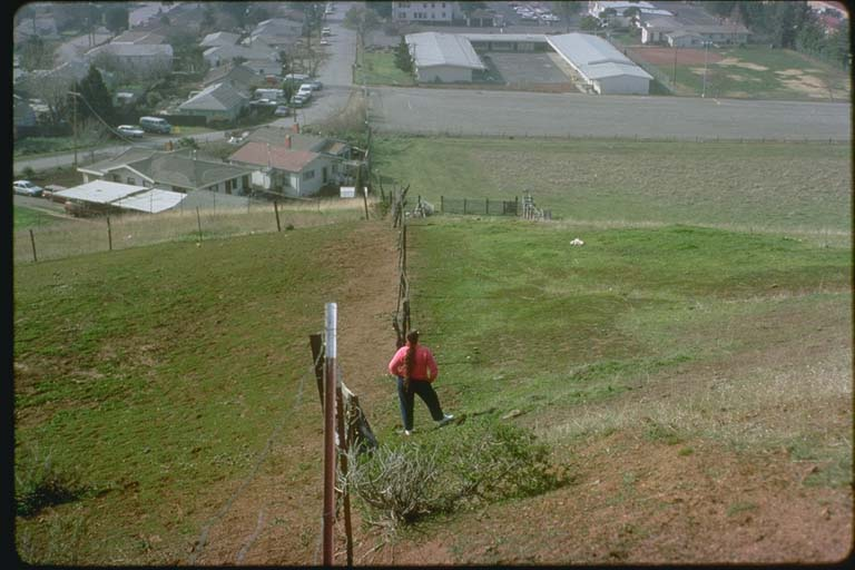 Offset of fence in Hayward