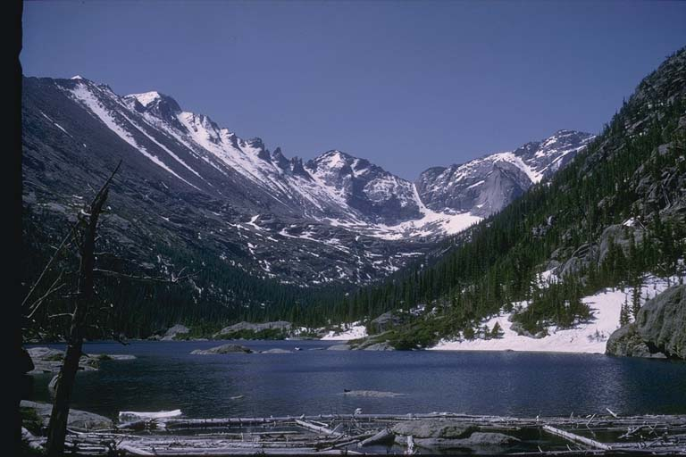 U-shaped valley, Rocky Mountain National Park, Colorado