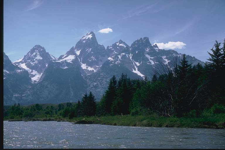 Glacial erosion, Grand Tetons, Wyoming