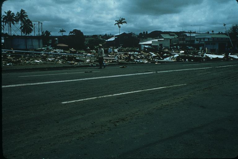 Tsunami damage in Hilo