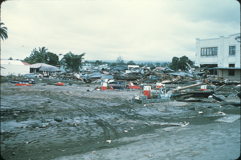 Tsunami damage in Hilo