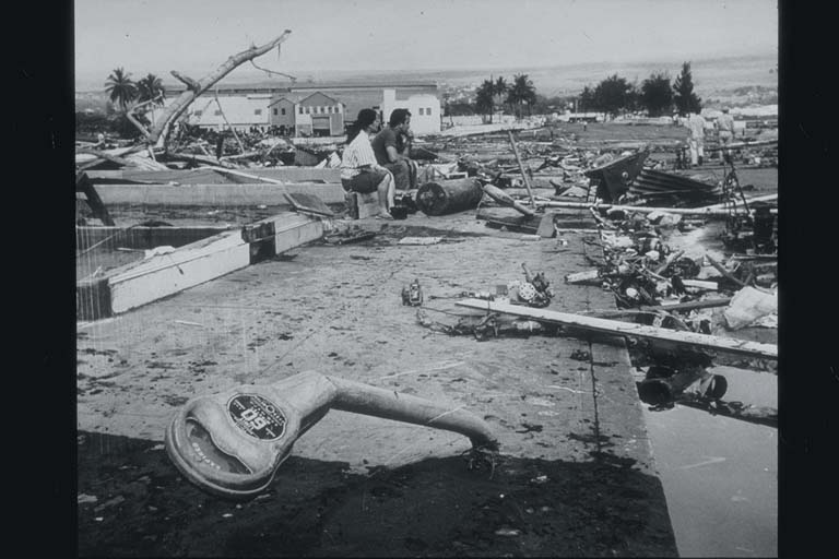 Aftermath of 1960 Chilean Tsunami in Hilo, HI