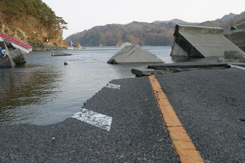 Otsuchi Road Damage