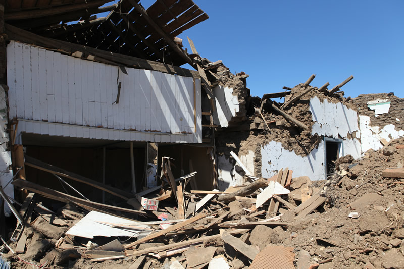 100-Year Old Adobe Building Destroyed