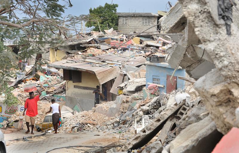 Damage in Port-au-Prince