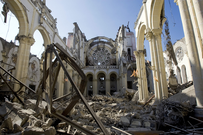 Remains of Cathedral in Haiti