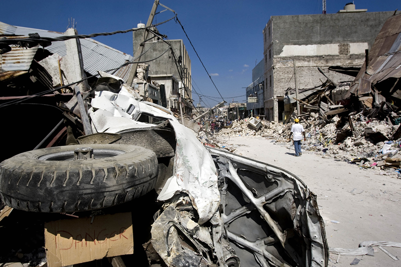 Downtown Port-au-Prince Reduced to Rubble