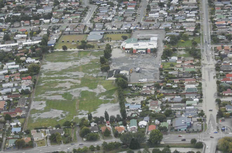 Liquefaction in Christchurch