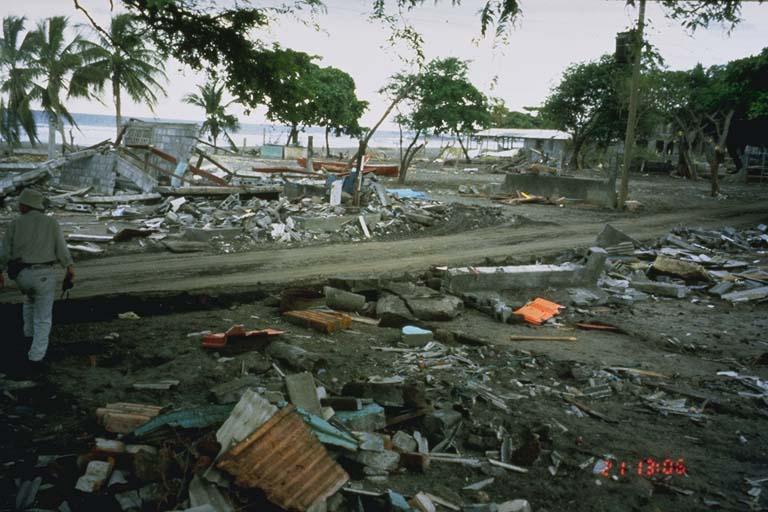 Damage at El Tranisto, Nicaragua