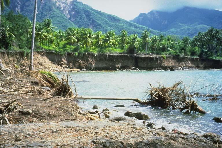 Effects of tsunami, Leworahang, Indonesia