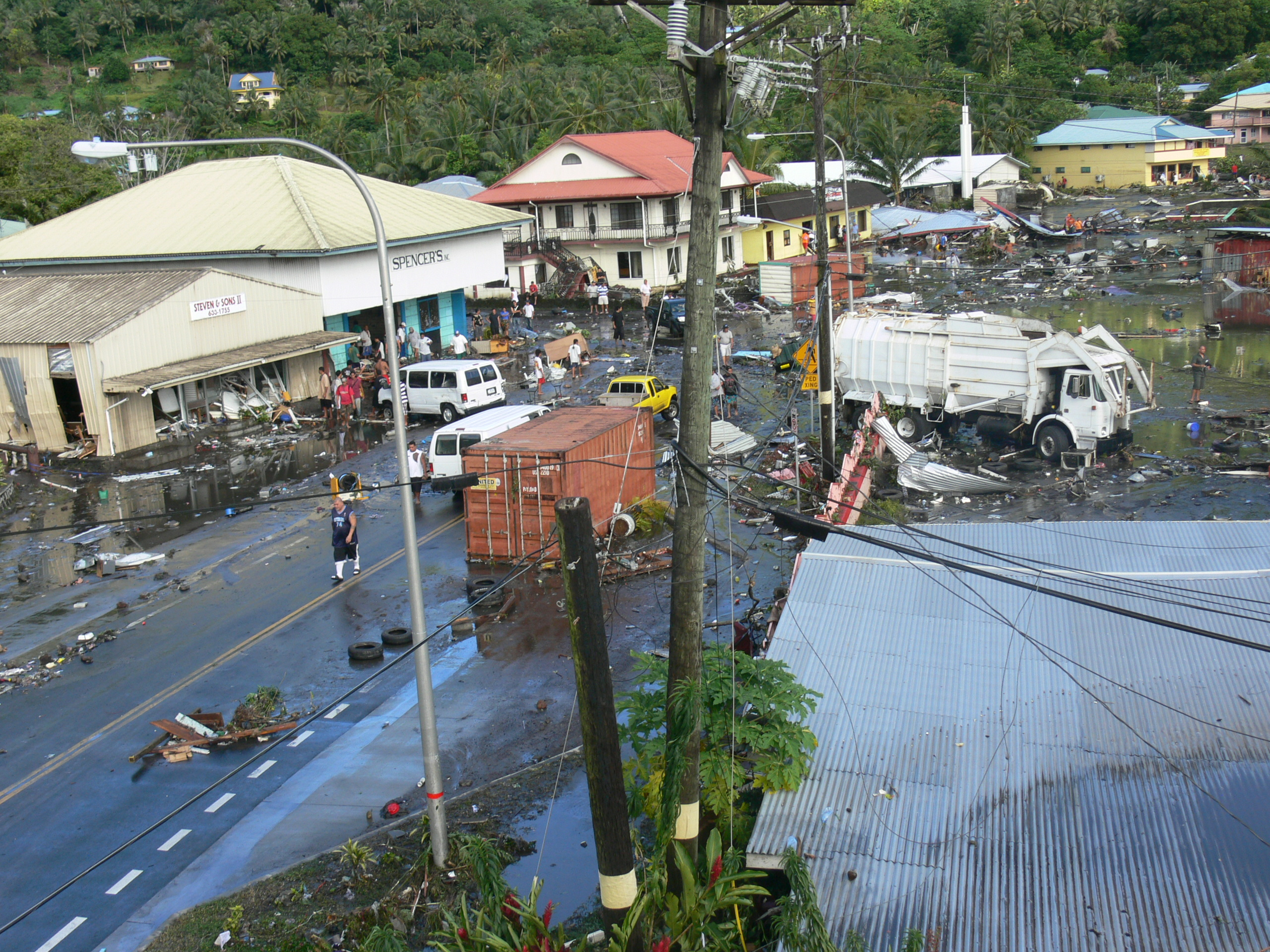 Debris Following Tsunami