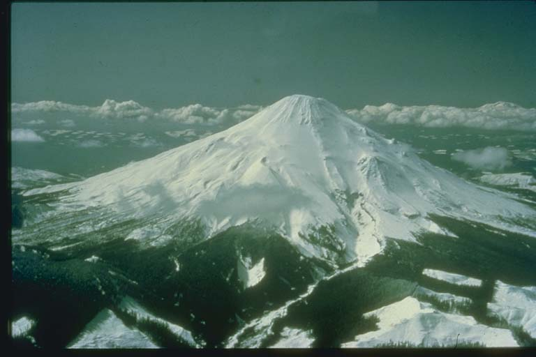 Mount Saint Helens, WA, before Volcanic Activity Began