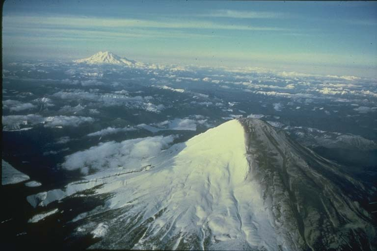 Ash Darkens Slopes of Mount Saint Helens, WA, as Activity Continues