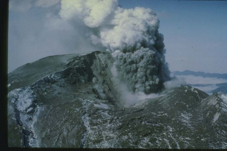 Steam Eruption at Mount Saint Helens, WA, Prior to May 18, 1980 Eruption
