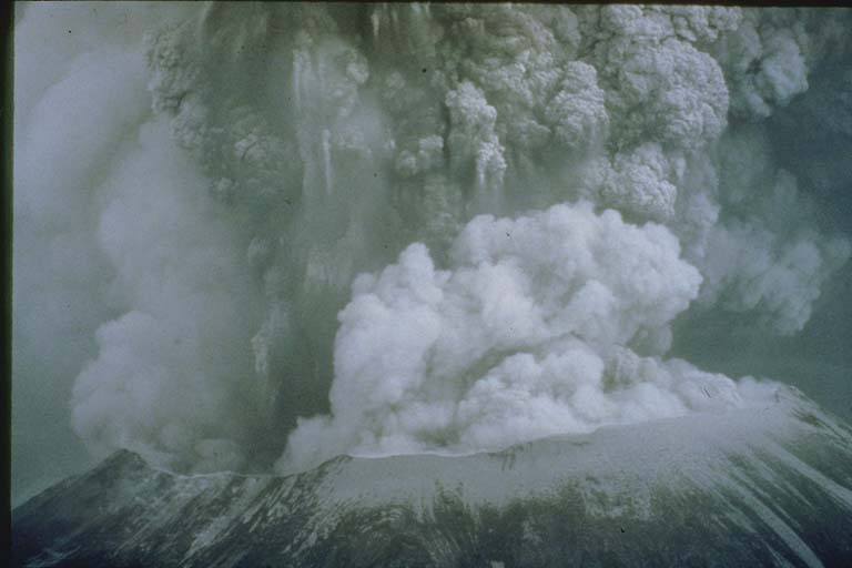 Ash Cloud from Distance of Three Miles, Mount Saint Helens, WA