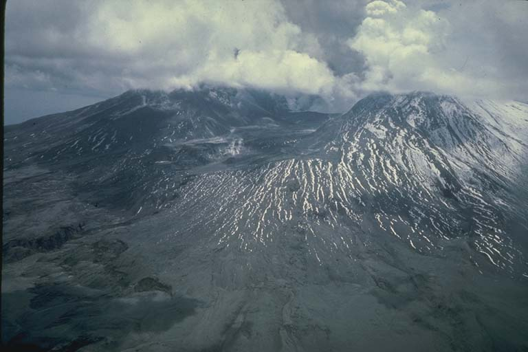 Aerial View of Mount Saint Helens after Major Eruption of May 18, 1980