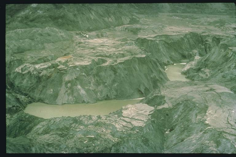 Mud Flow on Toutle River Resulting from Mt St Helens Eruption 1980
