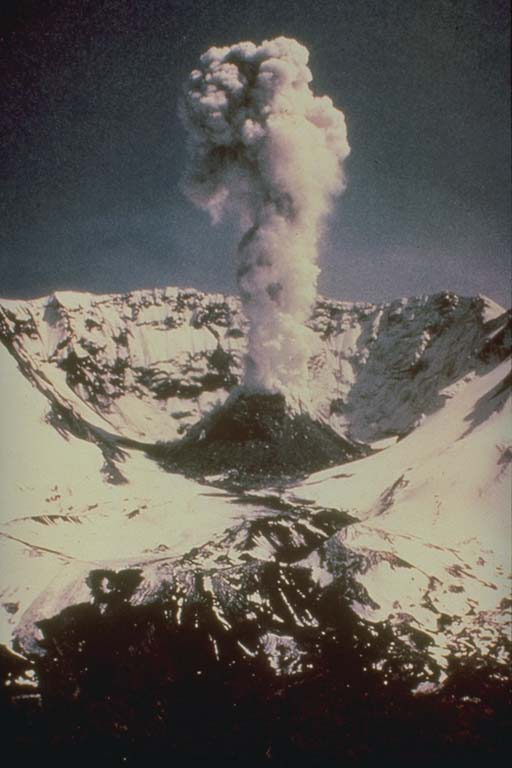 Lava Dome, Mt Saint Helens 3 Years after May 18, 1980, Eruption