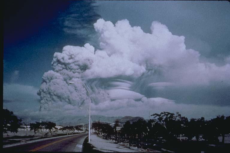 June 12, 1991, Eruption Cloud from Clark Air Base
