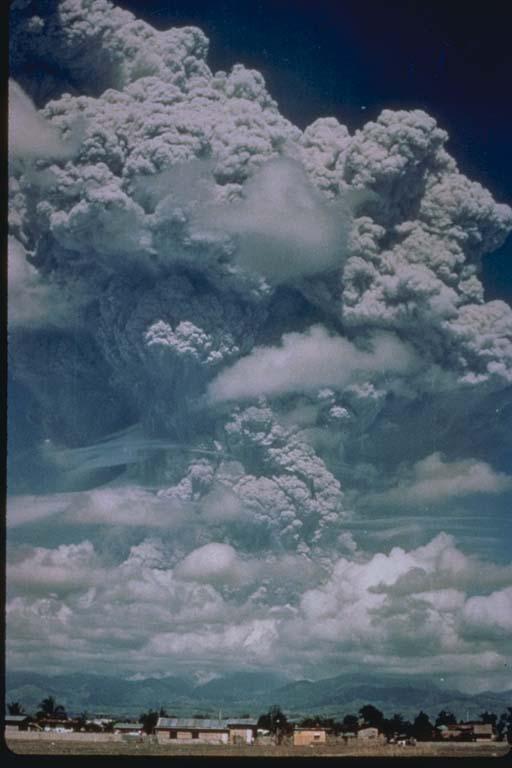 View of June 12, 1991, Eruption Cloud