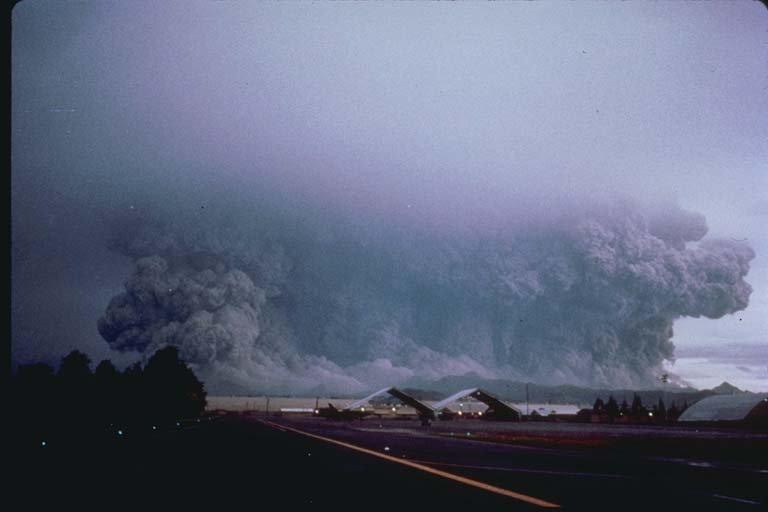 View of Major Eruption Cloud on June 15, 1991