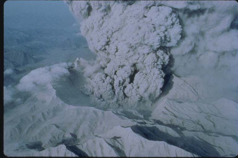 Aerial View of Pinatubo Crater after Major Eruption