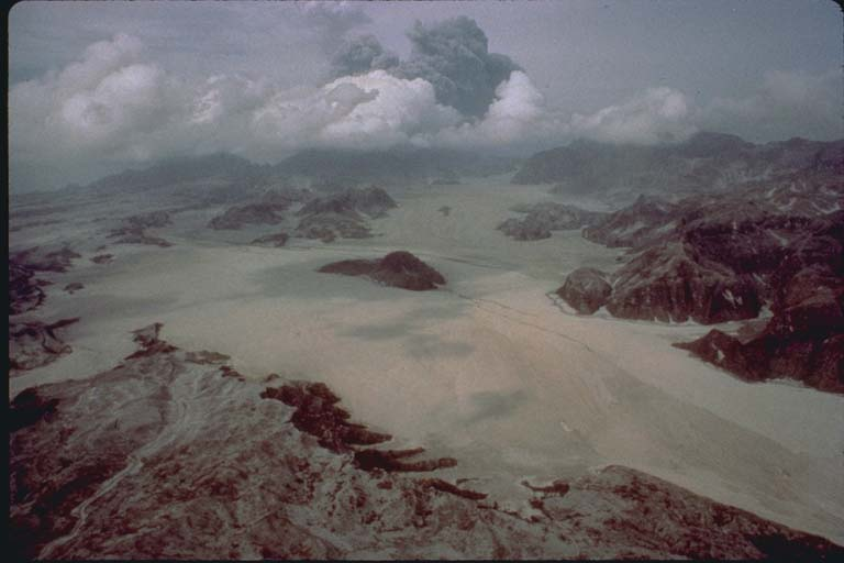 Aerial View Pinatubo Pyroclastic Deposits