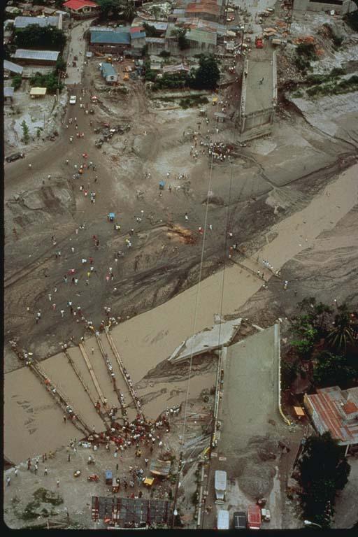 Mudflow Collapses Bridges in Angeles City