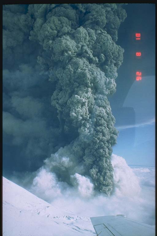 The ash column from the August 18 eruption