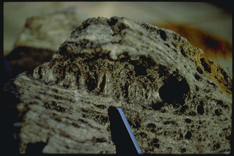 Inflated gneiss ejected in 1992