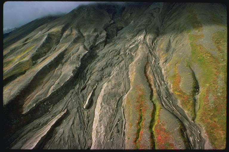 Successive pyroclastic avalanches