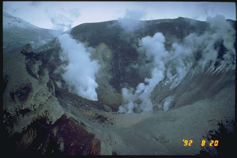 The inside of Crater Peak after the August eruption