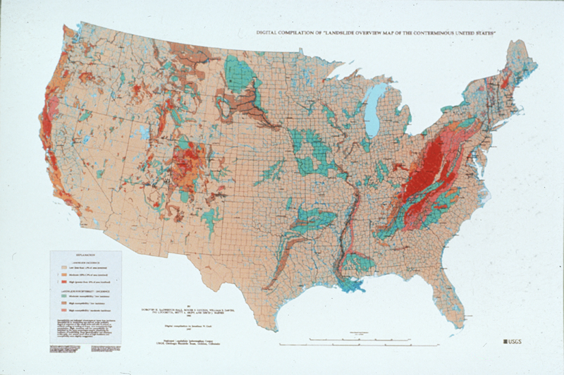 Landslide Overview Map of the Conterminous United States