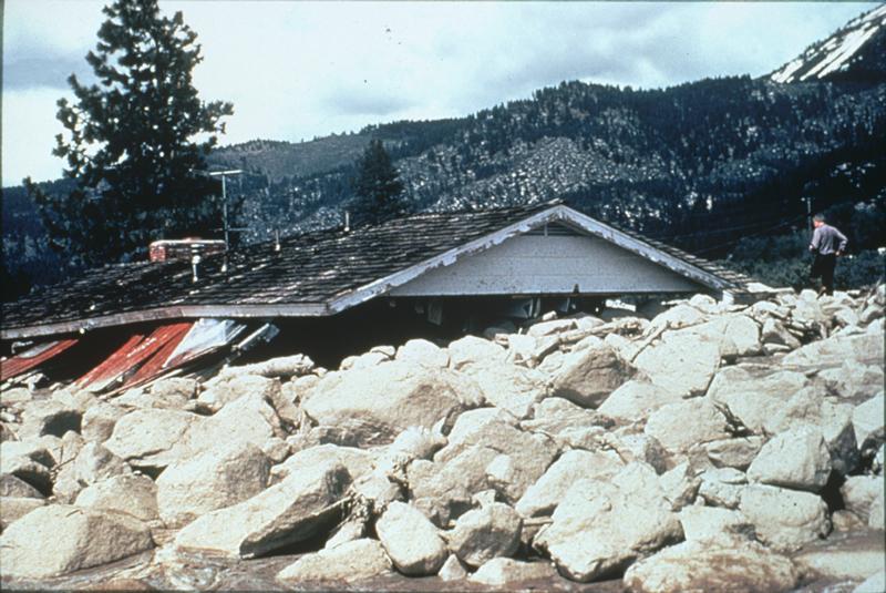 Debris Flow, Slide Mountain, Nevada