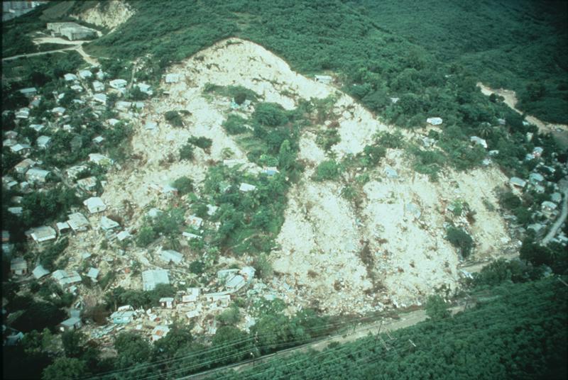 Landslide, The Mameyes, Puerto Rico