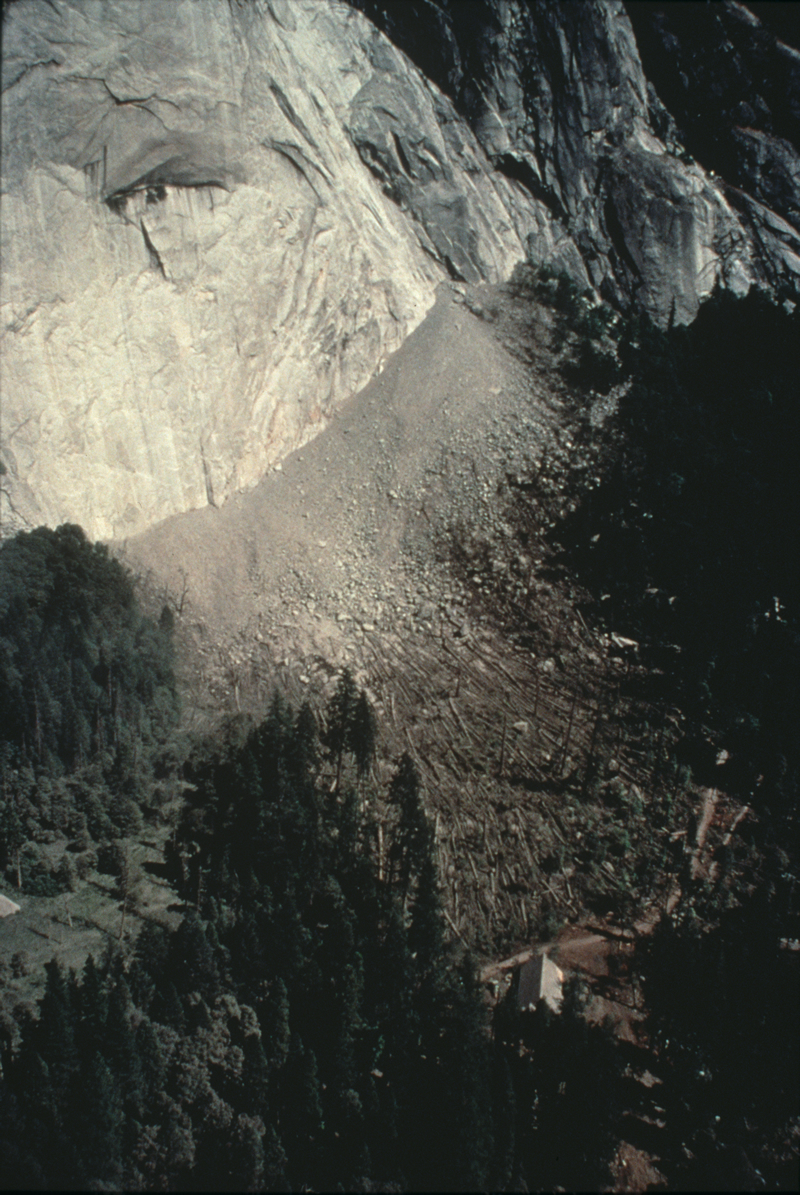 Rockfall, Yosemite National Park, California