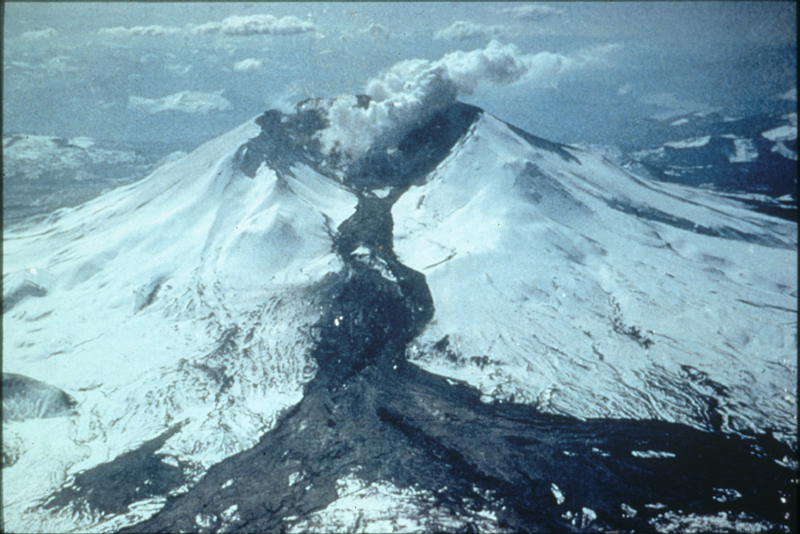 Mudflow, Mount Saint Helens, Washington
