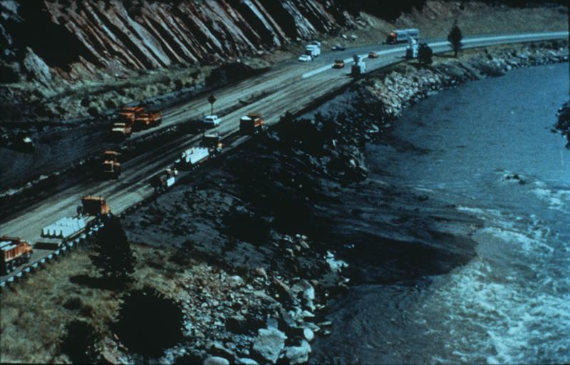 Debris Flow from Storm King Mountain, Glenwood Springs, Colorado