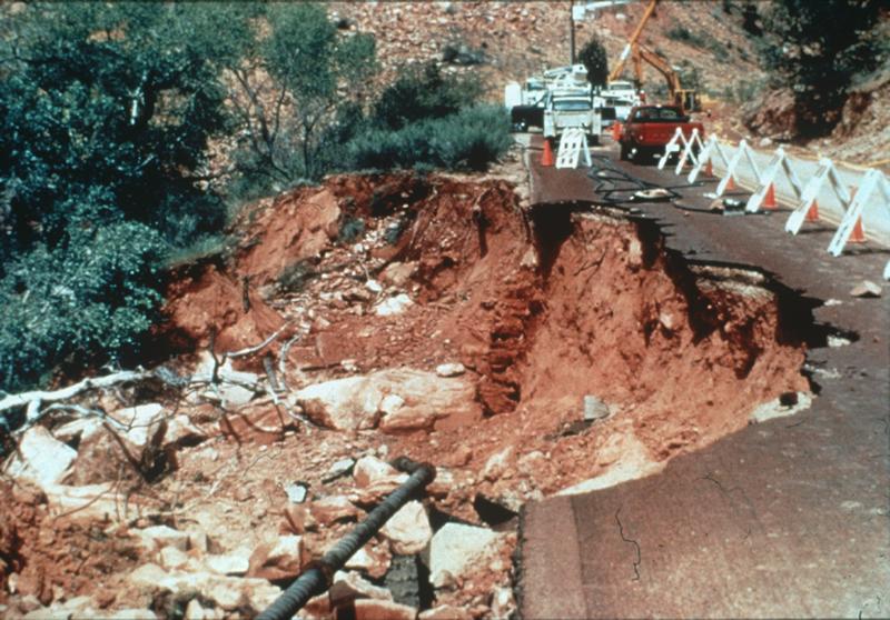 Landslide, Zion National Park, Utah