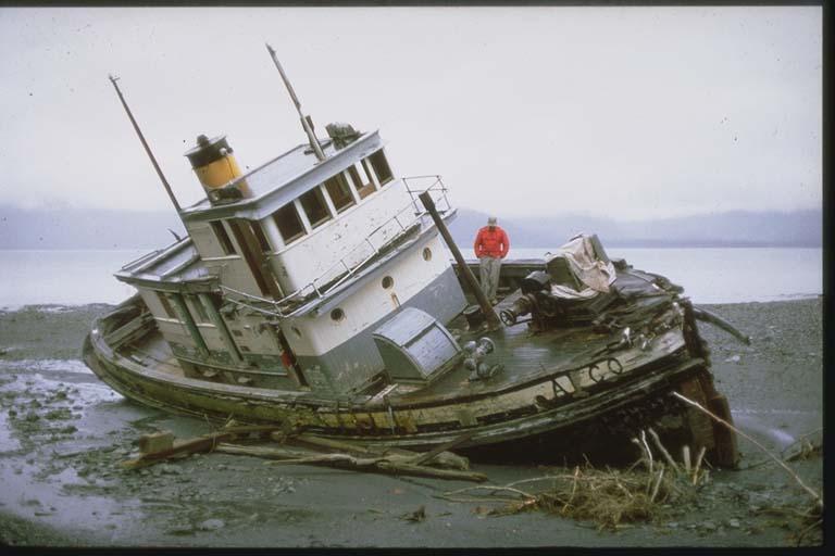 Boat Beached by Tsunami
