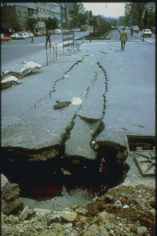Collapse of Streets Caused by Subsidence