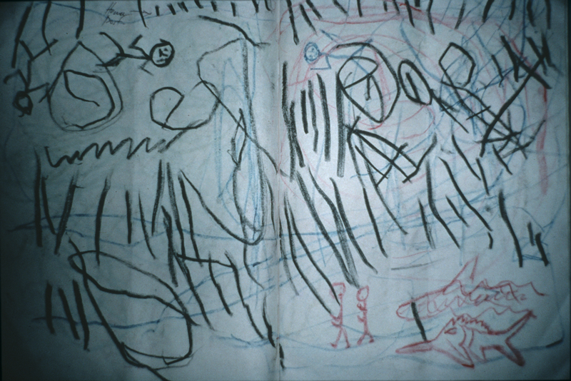 Drawing by a child survivor of the tsunami