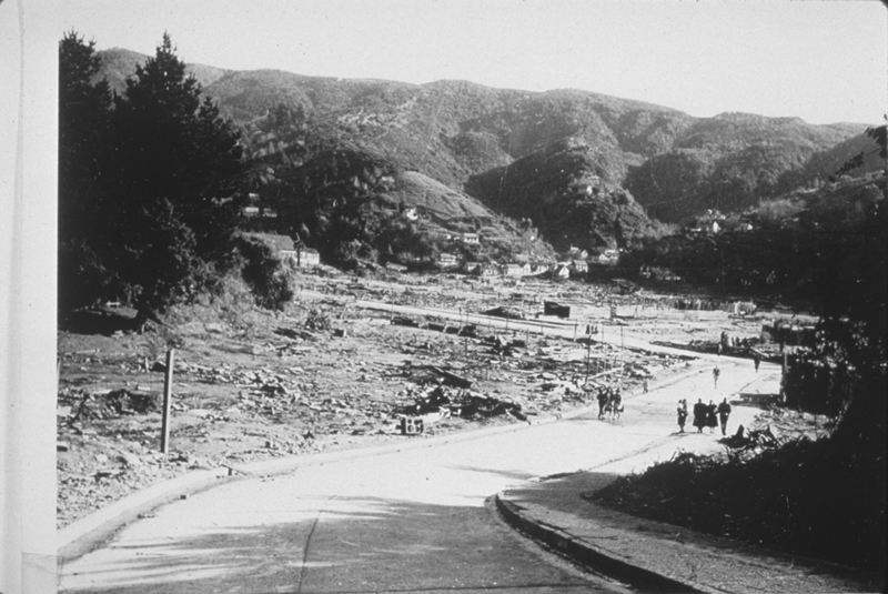 Damage at Corral after the tsunami