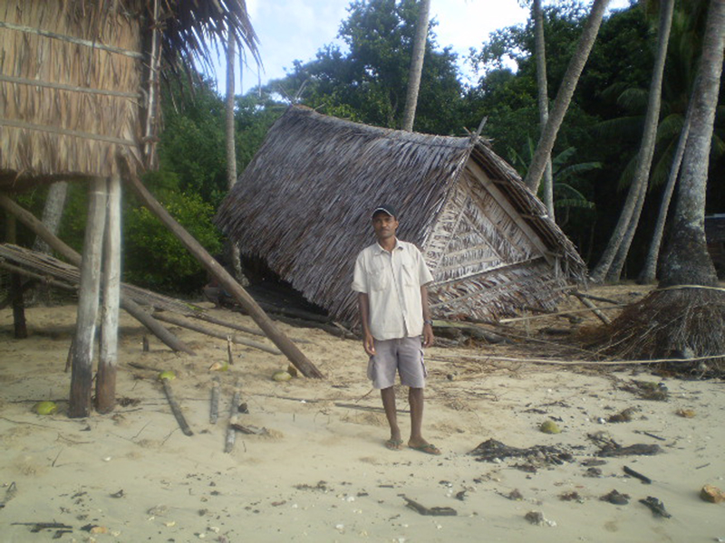 Tsunami Damage at Kelaua