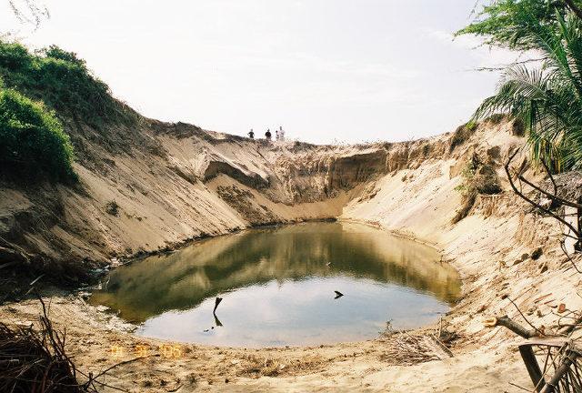 Hambanto in the South Eastern portion of Sri Lanka