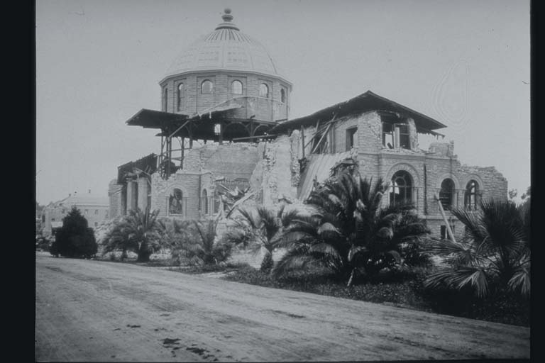 Damage to Library at Stanford University