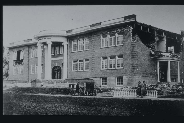 Damage to School at Manhattan