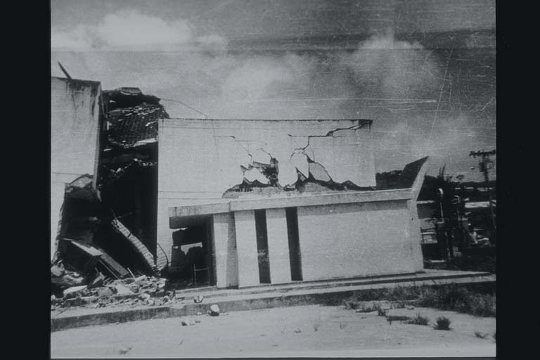 Damage to School in 1976 Esmeraldas, Ecuador