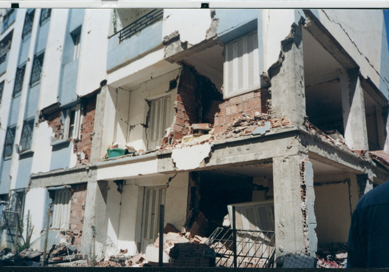 Damage to an apartment building in the city of Boumerdes, Algeria