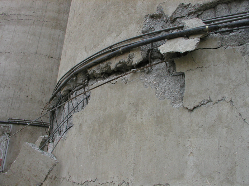Damage to a grain silo Corso, Algeria